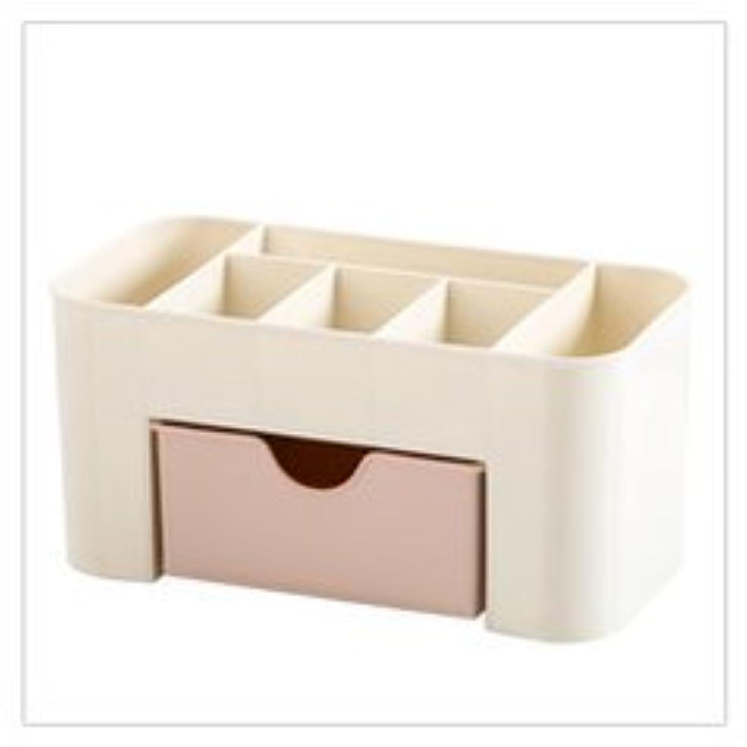 コットン不愉快に腹化粧品収納ボックス化粧品引き出し仕上げボックスデスクトップジュエリースキンケアパックフレームドレッサー (Color : ピンク)