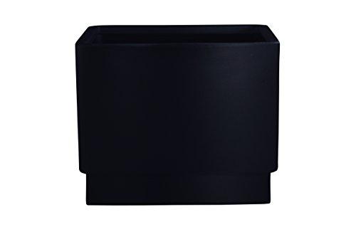 Hobby Flower Basic - Maceta Cuadrada con Sistema de Auto-riego, 35 x 35 x 35 cm, Color Negro