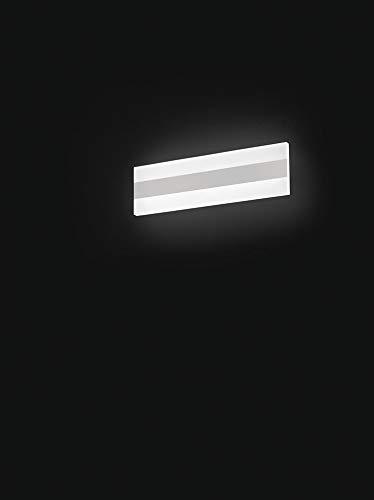 PERENZ Lampada da parete LED 25W 1500Lm 3000K Applique rettangolare in Metallo e Plexiglass Misure LxHxP 35x10x5,5 cm