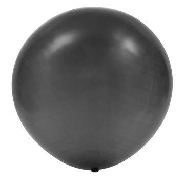 DyNamic 6 Stks 24 Inch Latex Ballon Circulaire Verjaardag Bruiloft Verjaardag Baby Shower Party Decoratie - Zwart