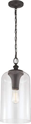 Feiss P1309ORB Hounslow Glass Pendant Lighting, Bronze, 1-Light (9
