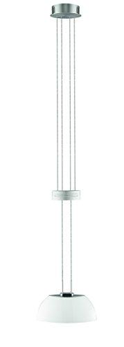 Sorpetaler Leuchten Pendel Medina Nickel Lichtfarbe, Abmessungen 26 x 10 x 150 cm, warmweiß 120180