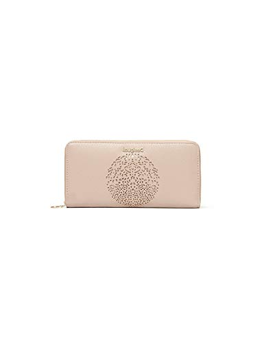 Desigual Damen Mone Tribal Zip Around Geldbörse, Beige (Crudo Beige), 2x9.5x19 cm