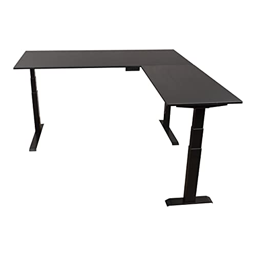 Stand Up Desk Store Triple Motor Electric L-Shaped...