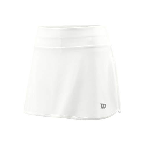 Wilson Damen W TRAINING 12.5\'\' Skirt Tennis-Rock, Polyester/Elasthan, weiß, M