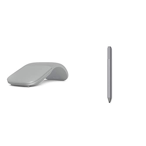 Microsoft Surface Arc Bluetooth Mouse - Platinum & Surface Pen - Platinum