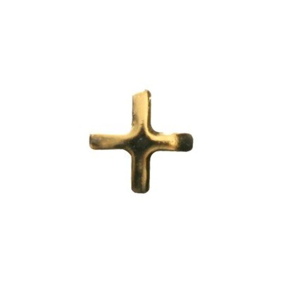 開始なにささいなピアドラ スタッズ クロスレット ハーフ 3mm 50P ゴールド