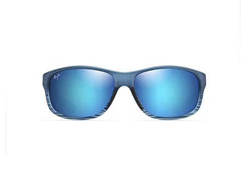 Maui Jim Kaiwi Channel W/patentado Polarizedplus2 lentes gafas de sol deportivas, azul, M