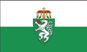 Flagge/Fahne STEIERMARK mit Wappen Staatsflagge/Landesflagge/Hissflagge mit Ösen 150x90 cm, gute Qualität