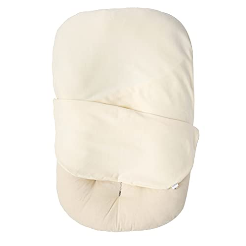 Guanwen 75 * 45 cm Cuna de Tela de algodón recién Nacido con cojín Cuna portátil Cuna para Toddlar Cuna de Cuna Infantil Cuna Nido de bebé Soft Skin Friendly Care Baby tierna Piel (Color : Beige)