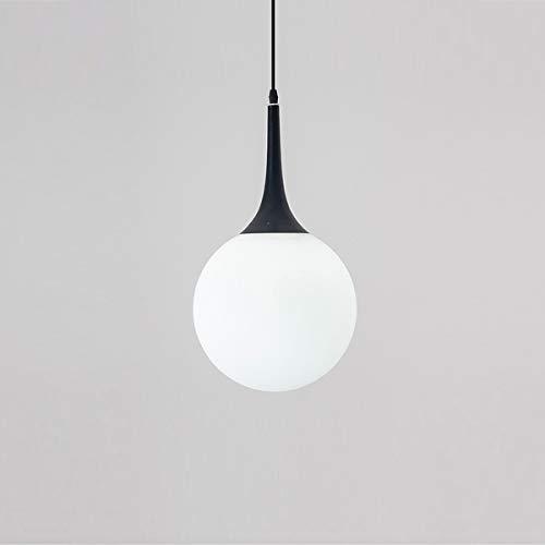 Creatieve retro kroonluchter LED-lampen Moderne witte glazen bol hanglamp slaapkamer restaurant Nordic lamp melk bol Suspension industrie Deco (color: AC 220V)