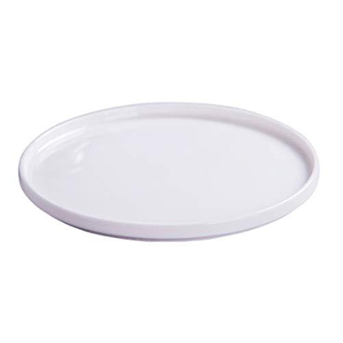 FDR Reines Weißes Geschirr Knochen Porzellanteebehälters Feinsteinzeug Teller Tablett Gemüsesalat Teller Obstteller Pasta Pizza Platte Besten Essteller L20.1.4