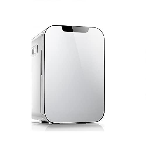 QPMY Mini Refrigerador para Automóvil, 7 Pies Cúbicos De Refrigerador Pequeño, Doble Energía para Frío Y Calor, Estante Extraíble, Silencioso Y Ahorrador De Energía,Plata