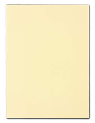 20 STÜCK Leinen- Karton DIN A4 – 29,7 x 21,0 cm Vanille 240 g/m² Bastel-karton Ton-karton Ton-Papier Foto-Karton