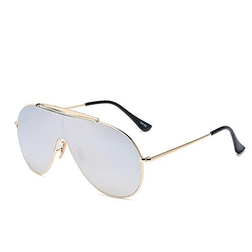 YTYASO Gafas de Sol deGran tamaño paraMujeres y Hombres, Gafas de Sol Redondas de una Pieza, Gafas, Gafas Femeninas, Grandes Sombras