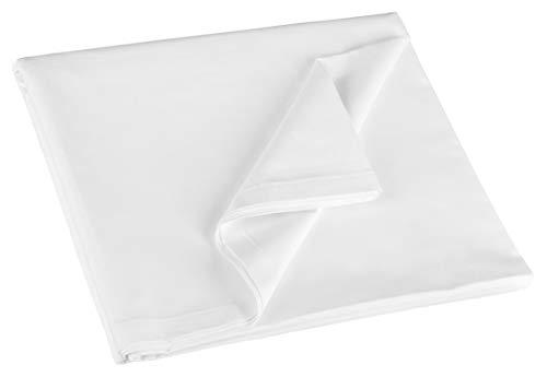 ZOLLNER Bettlaken, 100% Baumwolle, 150x260 cm, 125g/qm, ÖkoTex, Hotelqualität