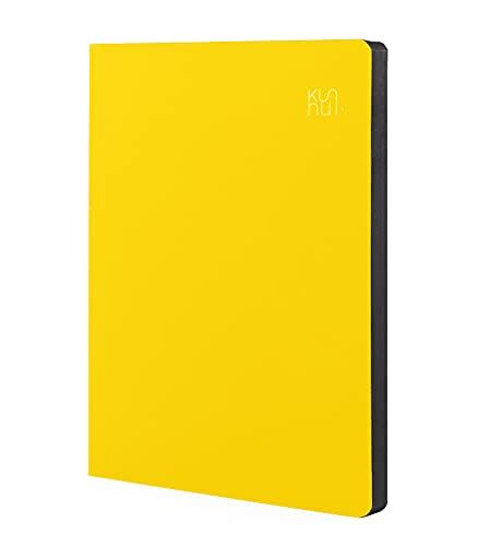 Kunnui - Bee - Bujo B5 - 19 x 25 cm - Tapa Flexible - Interior Trama de Puntos - 160 Páginas - Incluye Pegatinas y Plantillas Bullet Journal