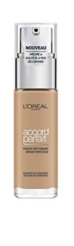 L'Oréal Paris Make-Up Designer Accord Parfait - 5N Sand - Foundation base de maquillaje Frasco dispensador Líquido 30 ml - Base de maquillaje (Frasco dispensador, Líquido, Sand, 5.N, Natural, c0926a)