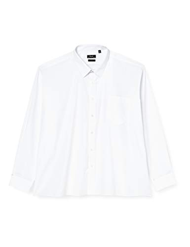 Premier Workwear Poplin Long Sleeve Shirt, Camisa para Hombre,, Blanco (White), 16.5'(42cm)