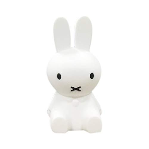 Haiqing Bär Keni Kaninchen Sally Huhn LED Silikon Nachtlicht Nachttischlampe Schlafzimmer Tischlampe (Farbe : Miffy Rabbit)