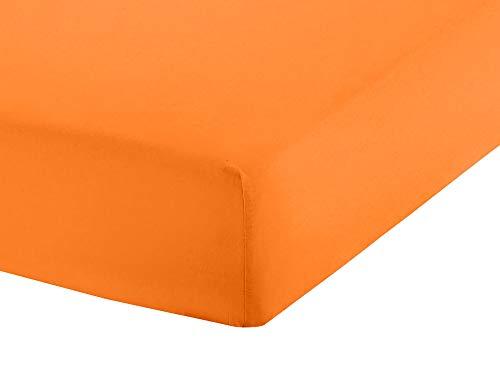 Merry Lou Jersey Spannbettlaken Spannbetttuch für das Kinderbett(Orange-135, 70 x 140 cm)