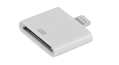 LYOS 30 zu 8 Pin [Lade-Adapter] von 30-polig auf 8-polig [OHNE Audio/Videoübertragung] kompatibel mit iPhone 6,6s,6 Plus,6s,7,7 Plus,8,8 Plus,X,11,Pro,Max,iPad 4,Air, 2, iOS 13 in weiß