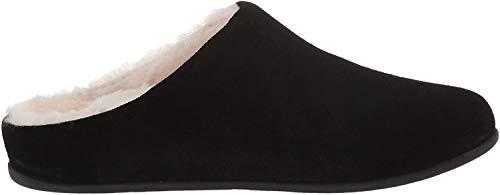 FitFlop Chrissie Shearling, Pantuflas para Mujer, Black Black 001, 41 EU