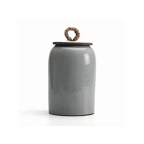 LIUTIAN Cène-thé en céramique Caddy rétro de Style Japonais de Style céramique Contenant de Stockage de Nourriture avec Couvercle, Bol à Sucre Parfait (Color : B)