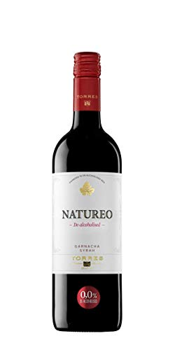 Natureo Syrah, Vino Tinto desalcoholizado - 6 botellas de 750 ml, Total: 4500 ml