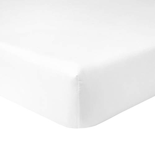 Yves Delorme - Flandre Blanc (White) California King Fitted Sheet - Luxury Fitted Sheet from France.
