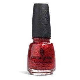 China Glaze Esmalte de uñas con endurecedores - Efecto del brillo 3D - Bombas Ruby, 1er Pack (1 x 14 ml)
