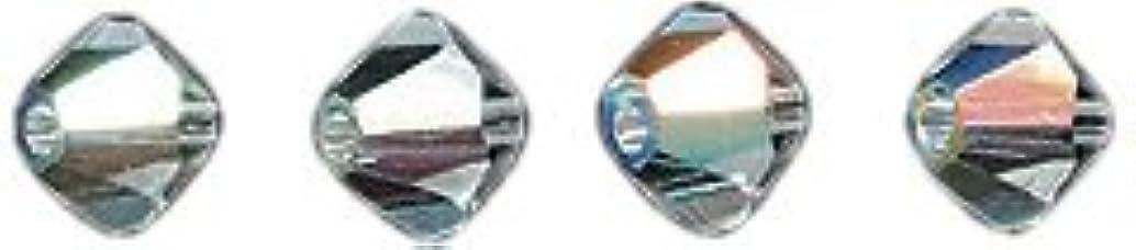 Swarovski 5328 Xilion Bicone Diamond Beads, Aurora Borealis, Crystal, 4-mm