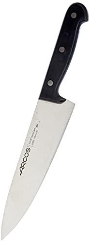 Arcos Cuchillo Universal Cocinero 200mm, Acero Inoxidable, Plateado, 200 mm