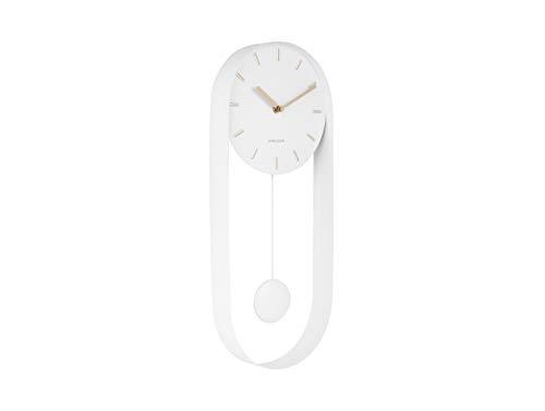 Karlsson - wandklok - pendelklok - klok - pendulum Charm - staal - wit