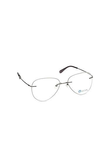 Silver Aviator Full Rim Eyeglasses for Men Titan-Large