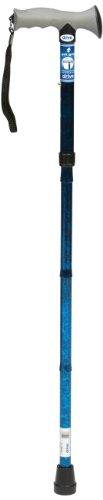 Drive Medical 10370BC-6 Gehstock mit Gelgriff, zusammenfaltbar, Eisblumenblau