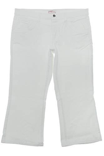 Sheego 7/8 Jeans Capri Hose Pants Bootcut Damen Stretch Denim Plusgröße, Farbe:weiß, Damengrößen:46