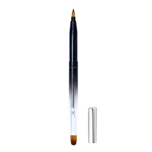 Beaupretty Spazzola per Rossetto Retrattile Portatile in Metallo Shell Pennello Labbra Rossetto Lip Gloss applicatore Pennello Strumenti di Trucco (sfumatura Nera)