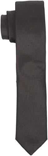 SELECTED HOMME Herren SLHPLAIN TIE 5CM NOOS B Krawatte, Braun (Demitasse Demitasse), One Size