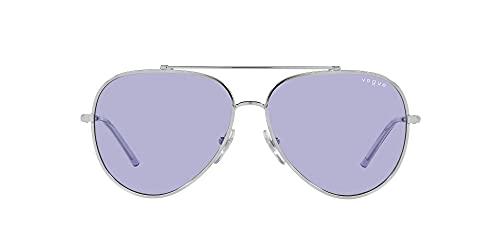 Vogue Eyewear Gafas de sol de aviador de la colección Millie Bobby Brown X para mujer Vo4212s, plateado/lila,