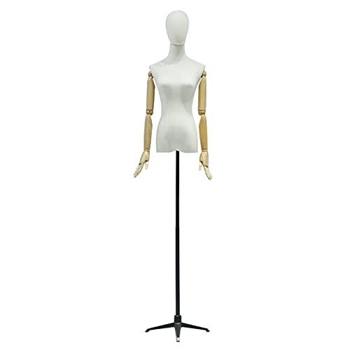 YSJX Maniquí Busto de señoras, Maniquí Femenino de Costura Extraíbles, Altura Ajustable, para Modistas, Moda, Patronaje, Exhibición (Color : D, Size : M)