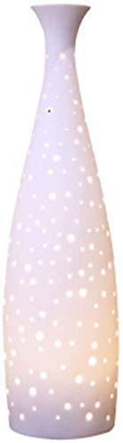 BWGHBH Ceramic Essential Oil Diffuser, Decorative Aromatherapy Humidifier w/Hand-Crafed White Porcelain Vase Cover & Pretty LED Light, Premium Birthday Gift for Women/Men