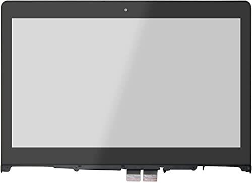 FTDLCD 14'' Cristal de Digitalizador de Pantalla Táctil de Repuesto de Ordenador Portátiles para Lenovo Yoga 500-14IHW 80N5 (con Marco)