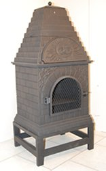 Warrior Stoves WSCHOVENC Chiminea / Patio Heater / BBQ / Pizza Oven