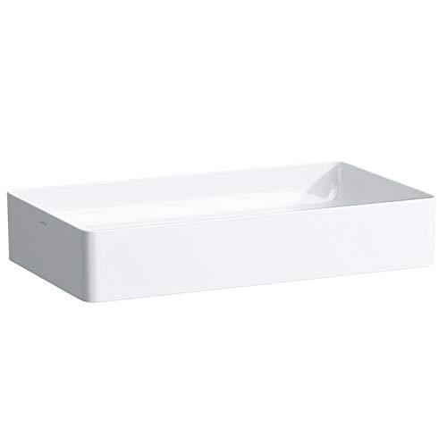 Laufen Living Square Waschtisch-Schale, ohne Hahnloch, ohne Überlauf, 600x340, Farbe: Weiss matt