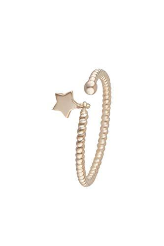 Córdoba Jewels | Anillo en Plata de Ley 925 bañada en Oro con diseño Anillo Rizado Estrella Gold