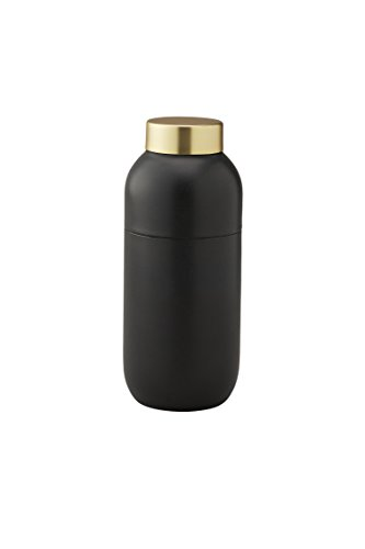Stelton 424 Collar Coctailshaker 500 ml. / Messbecher 2 & 4 cl, Baumwolle, schwarz-gold