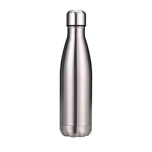 Botella de Agua de Acero Inoxidable Deporte para Termo con Aislamiento de Agua Cola Termo portátil de Viaje para Beber al Aire Libre 500/750/1000 ml - 0.5L, Azul
