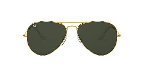 Ray-Ban Aviator Large Metal, Gafas de sol para Hombre, Dorado (Grey/Green), 55