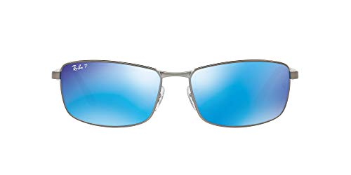 Ray-Ban 0RB3498 Gafas de sol, Matte Gunmetal, 61 para Hombre